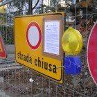 Strada chiusa per frana