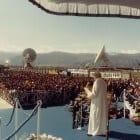 24 marzo 1985 - Papa Giovanni Paolo II, in visita al Fucino